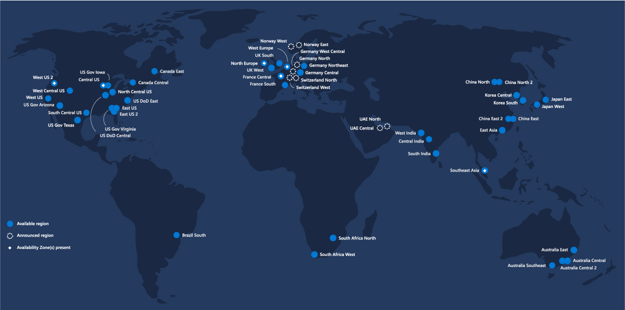 Azure-Region-Map