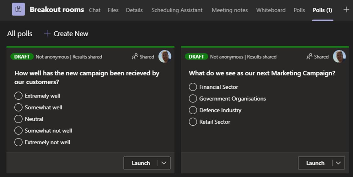 Microsoft Teams meeting Forms