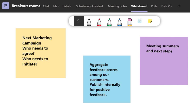 Microsoft Whiteboard in meetings