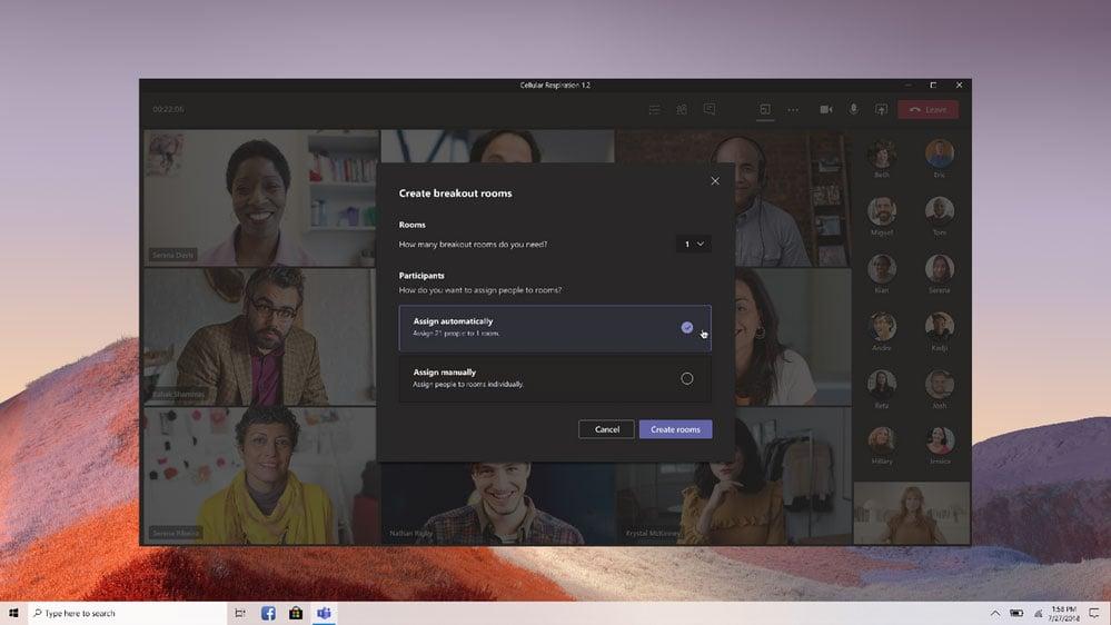 Microsoft Teams Create Breakout Room Feature
